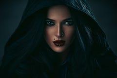 piękna uroda makijaż oczu charakteru naturalnej portret kobiety obraz stock