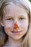 piękna uroda oczy makijaż naturalnego portret dziewczyny fotografia stock