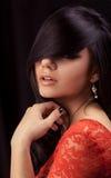 piękna uroda oczy makijaż naturalnego portret dziewczyny Obrazy Stock