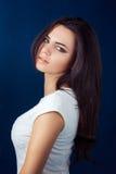 piękna uroda oczy makijaż naturalnego portret dziewczyny Zdjęcie Royalty Free