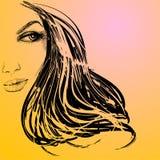 piękna uroda oczy makijaż naturalnego portret dziewczyny Zdjęcie Stock