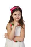 piękna uroda oczy makijaż naturalnego portret dziewczyny Zdjęcia Stock