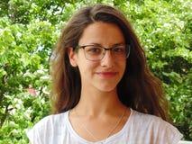 piękna uroda oczy makijaż naturalnego portret dziewczyny Obraz Royalty Free