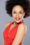 Piękna uwodzicielska amerykanin afrykańskiego pochodzenia kobieta fotografia stock