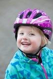 Piękna vivacious młoda dziewczyna z radosnym uśmiechem obrazy stock