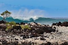 Piękna władza kipiel przy losu angeles Perouse zatoką na Maui zdjęcia royalty free