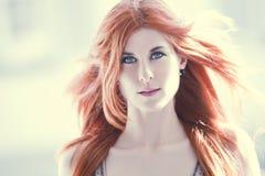piękna włosiana czerwona kobieta Obraz Stock