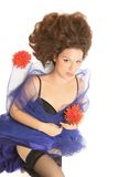 piękna włosiana kobieta Fotografia Stock