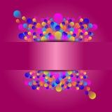 Piękna wakacyjna wydarzenie karta z kolorowym balonem Zdjęcia Royalty Free