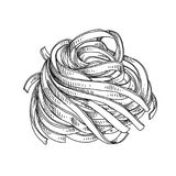 Piękna wektorowa ręka rysująca makaron ilustracja Zdjęcia Royalty Free