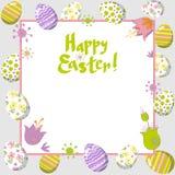 Piękna Wielkanocna karta z jajkami fotografia royalty free