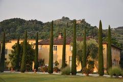 Piękna willa Tuscany Włochy obrazy stock