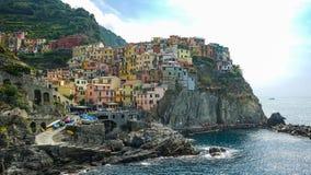 Piękna wioska, Manarola, Cinque Terre park narodowy, Włochy Zdjęcie Royalty Free