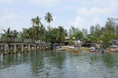Piękna wioska w Terengganu, Malezja blisko plażowego surroun Obrazy Stock