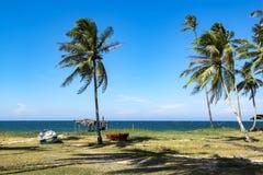 Piękna wioska w Terengganu, Malezja blisko plażowego surroun Fotografia Stock