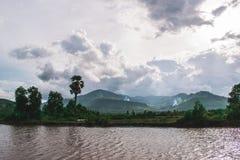 Piękna woda w Kambodża w Azja Południowo-Wschodnia zdjęcie stock