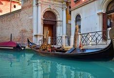 Piękna wodna ulica - Wenecja, Włochy Obrazy Royalty Free