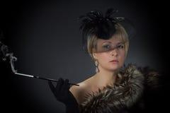 Piękna wspaniała kobieta w studiu Zdjęcie Stock