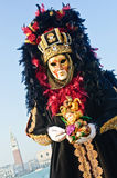 piękna złocista imponująco maska Fotografia Royalty Free