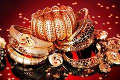 Piękna złota biżuteria zdjęcie stock