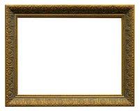 Piękna złota rama, rocznik rama odizolowywająca Obraz Stock