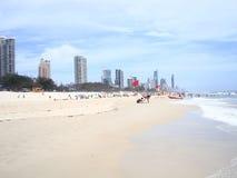 Piękna złota wybrzeża plaża Australia Zdjęcie Stock