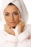 piękna z włosami czarny Zdjęcie Royalty Free