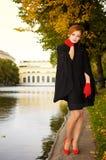 piękna z włosami portreta czerwieni kobieta Fotografia Stock
