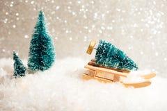 Piękna zabawkarska kartka bożonarodzeniowa Zdjęcia Stock