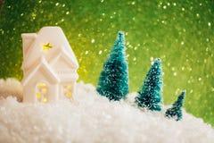 Piękna zabawkarska kartka bożonarodzeniowa Zdjęcia Royalty Free