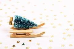 Piękna zabawkarska kartka bożonarodzeniowa Fotografia Stock