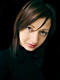 piękna zamkniętej dziewczyny portret zamknięty Zdjęcie Stock