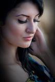 piękna zbliżenia portreta kobieta Zdjęcie Stock