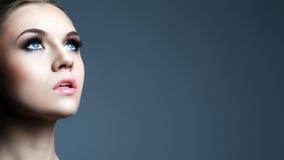 piękna zbliżenia portreta kobieta obrazy royalty free