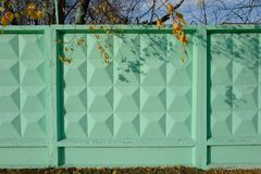 Piękna zielona betonowa ściana zdjęcia royalty free