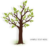 piękna zielona ilustracja opuszczać drzewo wektor Zdjęcie Royalty Free