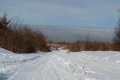Piękna zima w mieście Almaty zdjęcie stock