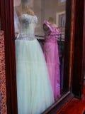Piękne ślubne suknie Zdjęcia Royalty Free