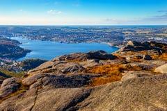 piękne śródpolne przedpola krajobrazu Norway truskawki Obrazy Royalty Free
