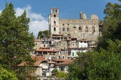 Piękne średniowieczne wioski Włochy, Dolceaqua - Zdjęcia Stock