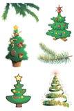 piękne Święta drzew ilustracyjni położenie Zdjęcie Royalty Free