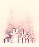 piękne Święta drzew ilustracyjni położenie Obraz Stock