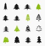 piękne Święta drzew ilustracyjni położenie Zdjęcia Royalty Free