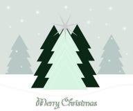 piękne Święta drzew ilustracyjni położenie Obraz Royalty Free