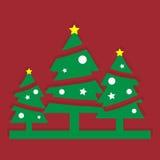 piękne Święta drzew ilustracyjni położenie Obrazy Stock