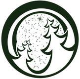 piękne Święta drzew ilustracyjni położenie Obrazy Royalty Free