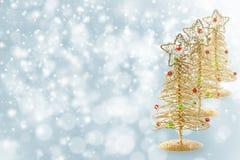 piękne Święta drzew ilustracyjni położenie kolaż Zdjęcie Stock