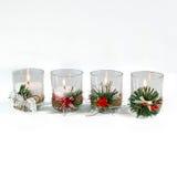 Piękne świeczki odizolowywać Zdjęcia Stock