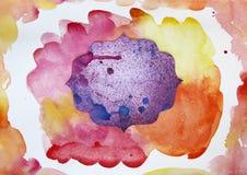 Piękne abstrakcjonistyczne akwareli plamy z miejscem dla twój teksta ilustracja wektor
