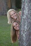 piękne blondynki dwa zdjęcia stock